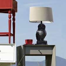 Owl Table Lamp Owl Table Lamp Gunmetal Natural West Elm