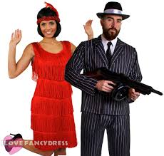 Gatsby Halloween Costumes Couples Gangster Flapper Costumes 1920 U0027s Fancy Dress