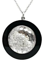 floating diamonds necklace images Floating diamond pendant in 18k white gold with black onyx jpg