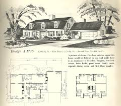 New England House Plans Vintage House Plans 1970s New England Gambrel Roof Homes