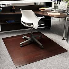 compare office chair mats bamboo wood laminate or plastic