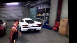 car garages gta 5 trevor s franklin s michael s luxury car garages youtube