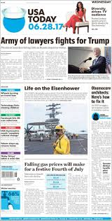 Challenge Usa Today Newspaper Usa Today Usa Newspapers In Usa Wednesday S Edition
