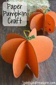 easy paper pumpkin craft paper pumpkin super easy and craft