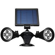 solar outdoor house lights lumiparty solar lights outdoor waterproof double spotlights wireless