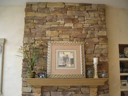 decorations stacked stone fireplace mantel interior design ideas