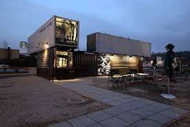 22 most beautiful houses made from shipping containers starbucks coffee shop made from shipping containers view