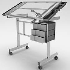 Glass Drafting Tables Station Glass Drafting Table 3ds