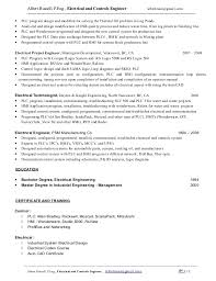 Electrical Engineer Resume Sample by An Electrical Engineer Albert Russell P Eng Resume