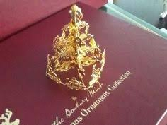 danbury mint 1990 gold ornament rocking