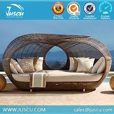 Ratan Garden Furniture Oversized Daybed Outdoor Sunbed Round - Round outdoor sofa 2