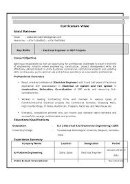 electrical engineering resume electrical engineer resume example