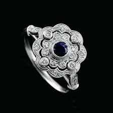art deco diamond and sapphire engagement rings art deco platinum