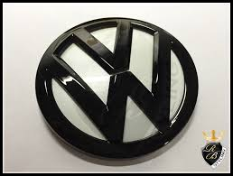 volkswagen logo black vw badge black gloss for vw golk 7 mk7 from rb styling dülmen germany