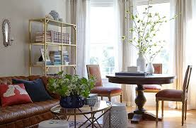 console table used as dining table tour san francisco decorator stacie flinner s nopa apartment