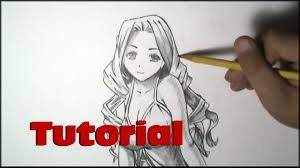how to draw manga curly hair tutorial youtube