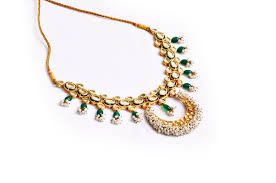 necklace elegant images Elegant gold plated kundan with small beads line necklace jpg