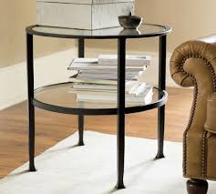round coffee table and end tables tanner round side table pottery barn