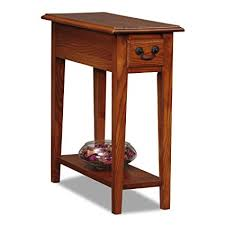 hardwood 10 inch chairside end table amazon com leick chair side end table medium oak finish kitchen