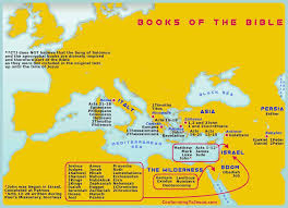 Map Of Israel In Jesus Time Map Of The Books Of The Bible