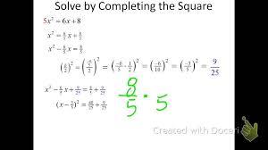 complete the square rewrite in vertex form