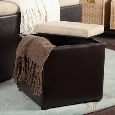garrett coffee table storage ottoman with tray u0026 side ottomans