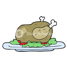 freehand drawn cartoon cooked turkey royalty free stock image