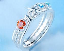 anime wedding ring comet ring etsy
