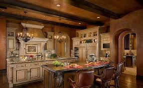 Tuscan Style Flooring Enchanting Tuscan Kitchen Pictures Teak Cabinet Beige Ceramic Tile