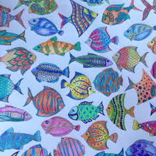 lost ocean fishes johanna basford my coloring pages