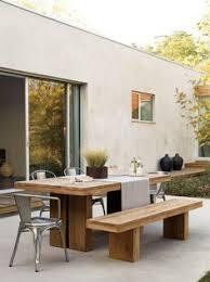 gartentisch beton metall selber bauen sitzplätze außenbereich