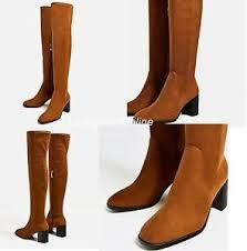 zara canada s boots zara stretch high heel the knee boots shoes toe block