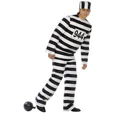 halloween inmate costume men u0027s convict prisoner costume