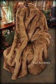 Real Fur Blankets Amazon Com Fur Accents Premium Faux Fur Throw Blanket Brown