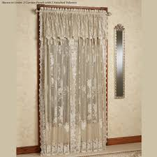 Lace Curtain Easy Style Lace Curtain Panel With Attached Valance With