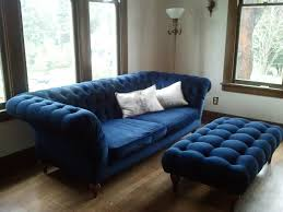 Navy Blue Tufted Sofa by Furniture Red Velvet Tufted Sofa Couch Legs Walmart Ava