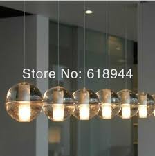 Glass Sphere Pendant Light Creative Ans Fashion Magic 10cm Single Head Crystal Glass Ball