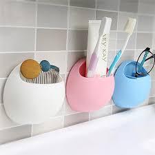 Suction Shelf Bathroom Toothbrush Holder Shelf Home Decoration Organizador Suction Cup