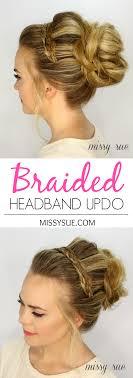 braided headbands headband updo
