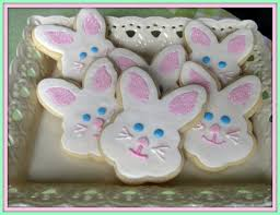 rabbit cookies butterface cakes easter bunny sugar cookies