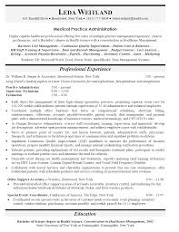 download healthcare administration sample resume