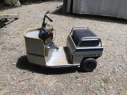 rare cushman vtg 3 wheel electric mall security scooter