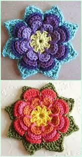 Free Pattern For Crochet Flower - 237 best crochet flowers images on pinterest crocheted flowers