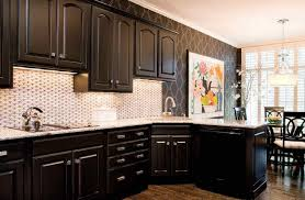 How To Paint Kitchen Cabinets Black Kitchen Design Pictures Modern Design Square Stained Wooden