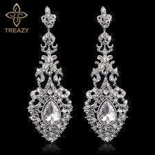 bridal drop earrings aliexpress buy treazy jewelry chandelier