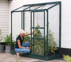 6ft X 8ft Greenhouse Vitavia Green Framed Ida 1300 6ft X 2ft Lean To Greenhouse