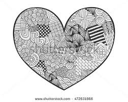 coloring book style zentangle floral stock vector 569090344