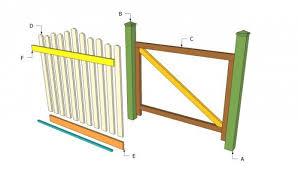 wood garden gate plans u2013 home design and decorating