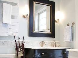 bathroom bathroom renovating with unique black gold frame of the