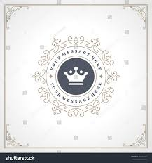 royal logo design template flourishes calligraphic stock vector